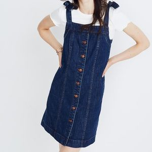NWT MADEWELL DENIM TIE-STRAP MINI DRESS